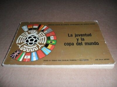 1970 World Cup Mexican Original Rare Very Program Without Writing SAMPLE # 2
