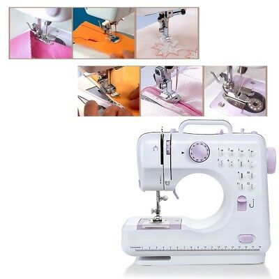 Mini Stitches Multifunction Electric Overlock Sewing Machine Household Sewing EU