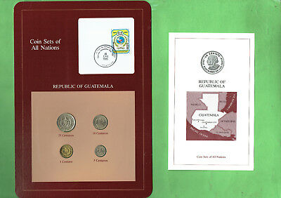 Carded  Coins Of The World - Guatemala