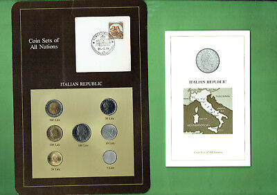 Carded  Coins Of The World - Italy, Creasing To Card