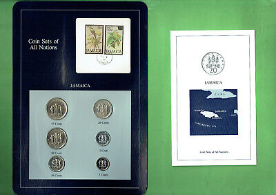 Carded  Coins Of The World - Jamaica