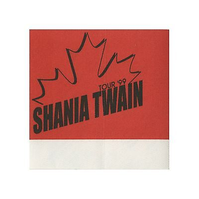 Shania Twain authentic Gray 1999 tour Backstage Pass