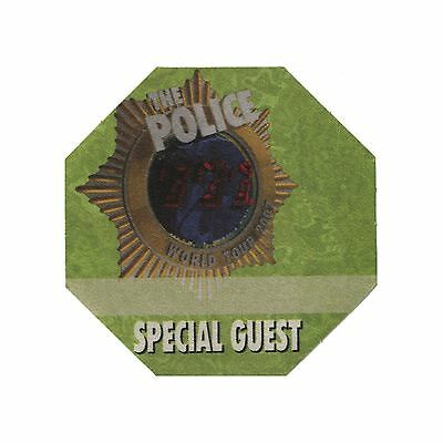 The Police authentic Special Guest 2007-2008 tour Backstage Pass