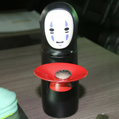 Coin Bank Spirited Away No-Face Man Kaonashi Music Piggy Bank Figure Anime Cool