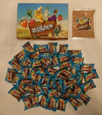 Lidl Stikeez Brand New Sealed Fruit & Veg 2017 Packs x 50 Plus Box And  Pouch