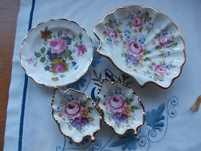 4 x FENTON BONE CHINA SUPERB DISHES =PERFECT CONDITION.=FREE POSTAGE