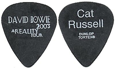 David Bowie Cat Russell authentic 2003 A Reality tour custom stage Guitar Pick