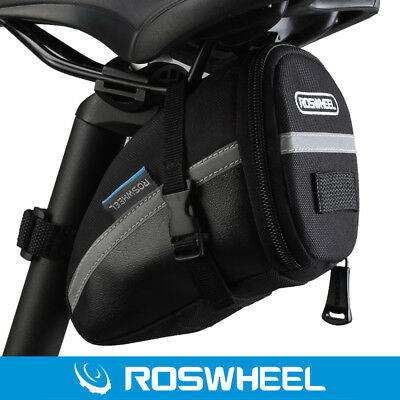 PVC/PU BLACK Portable Roswheel Outdoor Cycling Bike Saddle Bag Seat Tail Pouch