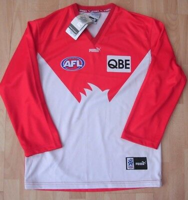 Sydney Swans Afl Aussie Rules Football Puma Long Sleeved Jersey Top Large New