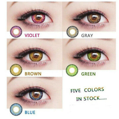 1 Pair Contact Lenses Crazy Halloween Coloured Cosmetic Makeup Cosplay lens #M