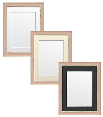 Nordic Distressed Pink Picture Photo Frame with Mounts
