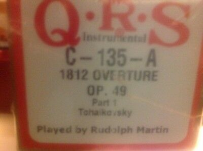 1812 Overture Op. 49 Part one  TCHAIKOWSKI NEW EXTENDED  PLAY PIANOLA  ROLL