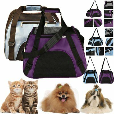 Pet Carrier Soft Sided Large Cat / Dog Comfort Travel Bag Airline Approved US SG