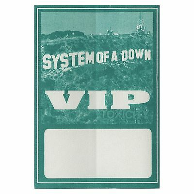System of a Down authentic VIP 2001-2002 tour Backstage Pass