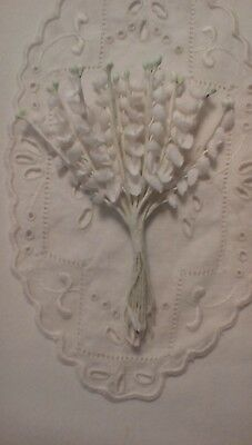 Vintage Millinery Hat Flowers White Lily of the Valley 1 Bouquet