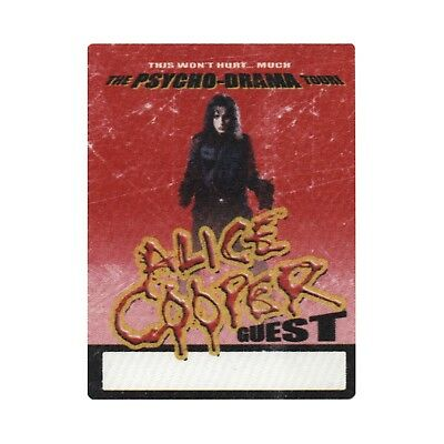 Alice Cooper authentic 2008 Psycho-drama Tour satin Backstage Pass guest red