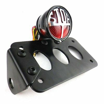 Support De Plaque Lateral Moto Cafe Racer Bobber Harley Custom Mm34-Lpl-037A-Bk