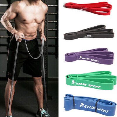 Fitness Resistance Yoga Bands Set Kit Exercise Loop Pilates Tube Workout Stretch