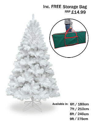 6ft 7ft 8ft 9ft WHITE CHRISTMAS TREE COLORADO SPRUCE ARTIFICIAL TREE