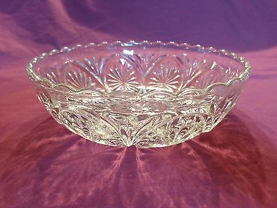 Cut Glass Crystal Candy Dish, Vintage