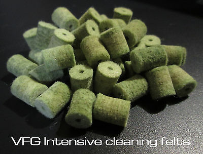 VFG Intensive felts for cleaning rod system Brass reinforced felts