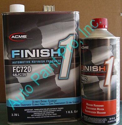 Auto Paint SHERWIN WILLIAMS FC720 GAL Finish 1 Ultimate Overall CLEAR COAT KIT
