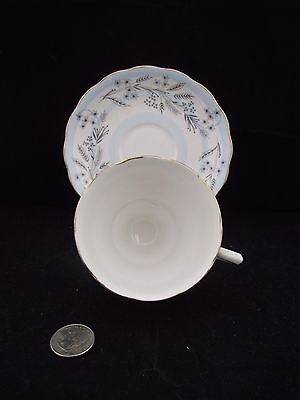 White Gold Blue Striped Colclough Cabinet Cup And Saucer