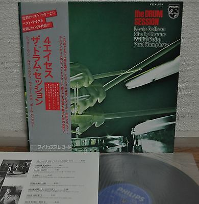 The Drum Session Louis Belson Shelly Mann Willie Bobo Japan LP 1976 FDX-257 Obi