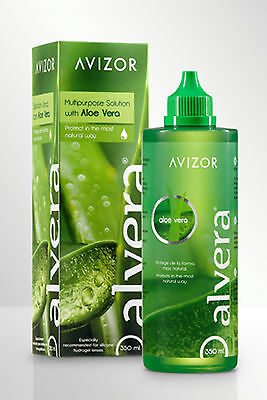 Avizor Alvera 350ml Multi Purpose Contact Lens Solution with Aloe Vera FREEPOST