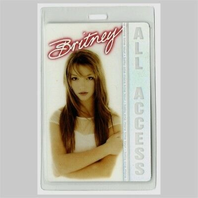 Britney Spears authentic 1999 Laminated Backstage Pass Baby One More Time Tour