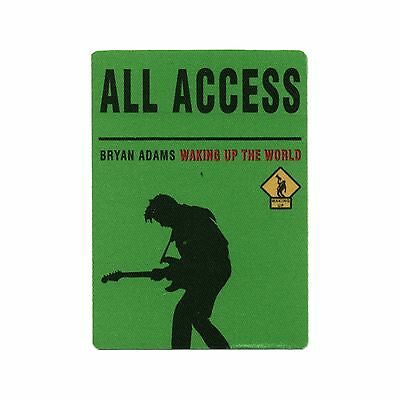 Bryan Adams authentic ALL ACCESS 1991 tour Backstage Pass