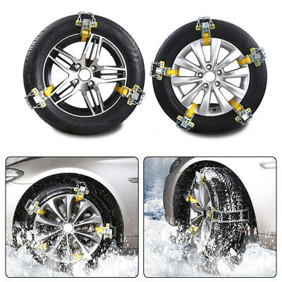 5PCS Car Truck Snow Ice Wheel Tyre Tire Anti-skid Chains Thickened Tendon Kit