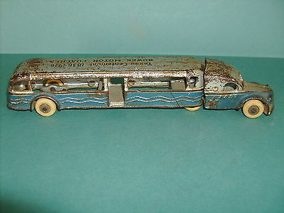 TEXAS CENTENNIAL 1836-1936 BOWEN MOTOR COACH BUS CAST IRON ARCADE TOY 1930's