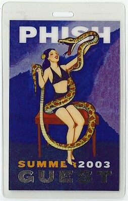 Phish authentic 2003 concert tour Laminated Backstage Pass rare collectible