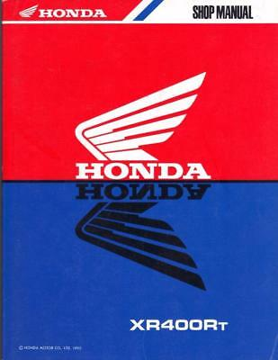 Honda Xr400R,rt,rv,1996,1997 Factory Workshop Manual,part Number 62Kcy00