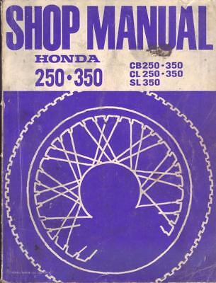 HONDA CB250,CB350,CL250,CL350,SL350 1968-1973 FACTORY WORKSHOP MANUAL,No 6228604