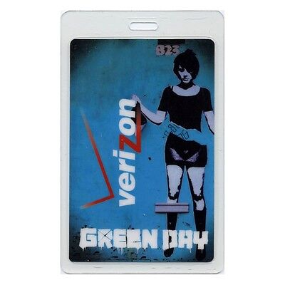Green Day authentic 2009 Laminated Backstage Pass 21st Century Breakdown Tour