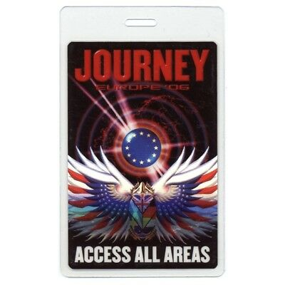 Journey authentic 2006 concert Laminated Backstage Pass Europe Tour ALL ACCESS