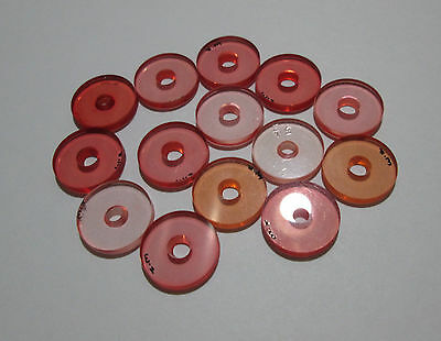 .626'' /15.9mm Old Style Walther Slimline Pink/Peche colored front sight inserts