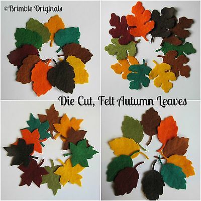 Die Cut Felt Autumn Leaves, Embellishments, Christmas, Sewing, Scrapbooking,