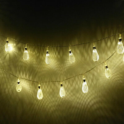 20 LED Metal Mesh String Light Lamp Battery Operated Party Xmas Decor