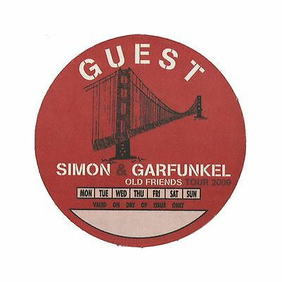Simon & Garfunkel authentic 2009 Old Friends tour Satin cloth Backstage Pass