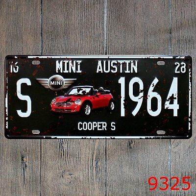 Metal Tin Sign mini austin Decor Bar Pub Home Vintage Retro Poster Cafe ART