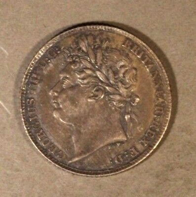 1825 Great Britain 6 Pence Silver Higher Grade Detailed ** Free U.S. Shipping **