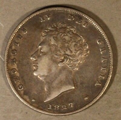 1827 Great Britain Shilling Nice Details Key Date      ** Free U.S. Shipping **