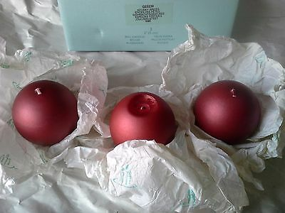 "Partylite Red Mini Ball Candles Set of 3 Holiday Spice ""Tested""  one of them"