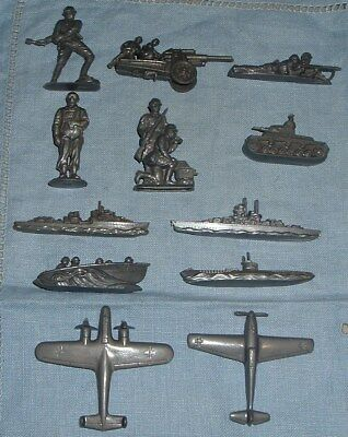 Complete Set of 12 German Red Cross (WHW) Wehrmacht Toys from 1940