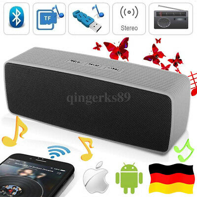 bluetooth usb lautsprecher stereo wireless musik speaker. Black Bedroom Furniture Sets. Home Design Ideas
