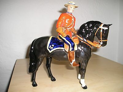 Beswick Horse And Rider. Canadian Mountie 1375