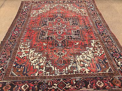 "Hand Knotted Persian TABRIZ- Heriz Antique Look Rug Carpet 8 x 10 ,7'9""x10'7"""